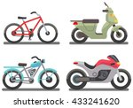 Bike And Motorbike Vector...