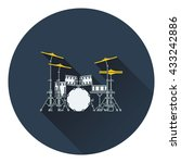 drum set icon. flat design....