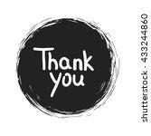 thank you .vector calligraphic...   Shutterstock .eps vector #433244860