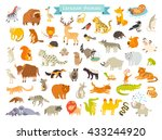 eurasian animals vector... | Shutterstock . vector #433244920