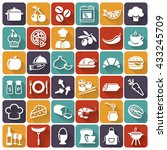 cooking flat icons. set of... | Shutterstock . vector #433245709