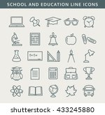 collection of school and... | Shutterstock . vector #433245880