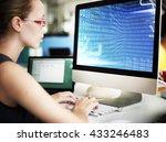 binary code digits technology...   Shutterstock . vector #433246483