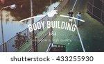 body building active lifestyle...   Shutterstock . vector #433255930