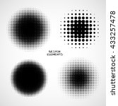 simple abstract halftone... | Shutterstock .eps vector #433257478