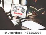 access denied password... | Shutterstock . vector #433263019