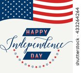 happy independence day. july... | Shutterstock .eps vector #433264264