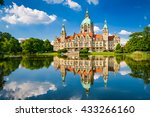 new city hall of hannover ... | Shutterstock . vector #433266160
