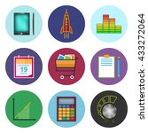 set of business icons phone and ...   Shutterstock .eps vector #433272064