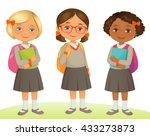 student kids | Shutterstock .eps vector #433273873