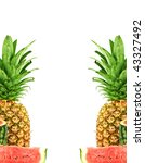 pineapple and watermelon... | Shutterstock . vector #43327492