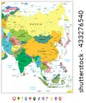 asia highly detailed political... | Shutterstock .eps vector #433276540