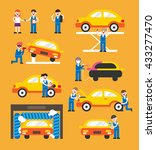 car repair vector illustration | Shutterstock .eps vector #433277470