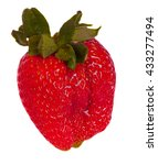 red strawberry  on white... | Shutterstock . vector #433277494