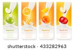 set of banners with fruit and... | Shutterstock .eps vector #433282963