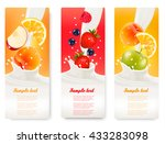 three labels with different... | Shutterstock .eps vector #433283098