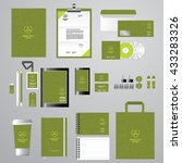 corporate identity template for ... | Shutterstock .eps vector #433283326