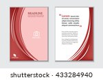 abstract red background and...   Shutterstock .eps vector #433284940