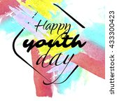 international youth day banner... | Shutterstock .eps vector #433300423