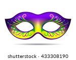 mardi gras mask  | Shutterstock .eps vector #433308190