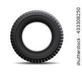 car tire isolated on white... | Shutterstock .eps vector #433308250