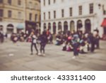 blurred buildings in bath... | Shutterstock . vector #433311400