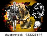 skull danger of dead | Shutterstock . vector #433329649