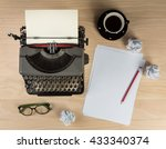 Vintage Typewriter With Work...