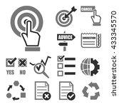 audit survey icon set | Shutterstock .eps vector #433345570