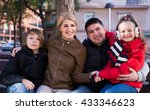 family with son and daughter... | Shutterstock . vector #433346623