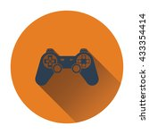 game pad  icon. flat design....