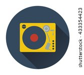 vinyl player icon. flat design. ...