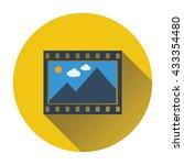 film frame icon. flat design....