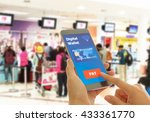 a digital wallet to pay for... | Shutterstock . vector #433361770