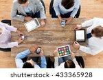 business  people  technology ... | Shutterstock . vector #433365928