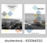 vector brochure cover templates ... | Shutterstock .eps vector #433366510