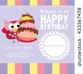 happy birthday card design.... | Shutterstock .eps vector #433367458