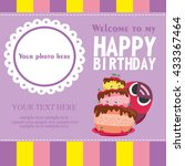 happy birthday card design.... | Shutterstock .eps vector #433367464
