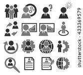 businessman icon set | Shutterstock .eps vector #433369579