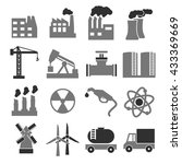 building factory icon set | Shutterstock .eps vector #433369669