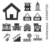 buying home icon set | Shutterstock .eps vector #433369720