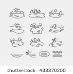 nature landscape vector icons  | Shutterstock .eps vector #433370200