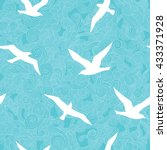 seamless pattern with seagulls ...   Shutterstock .eps vector #433371928