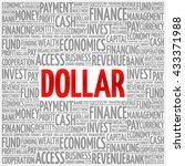 dollar word cloud  business...   Shutterstock .eps vector #433371988