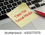 time for social media sticky... | Shutterstock . vector #433377070