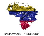 flag map venezuela country on... | Shutterstock . vector #433387804
