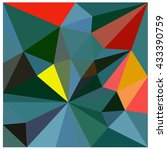 low polygon triangle pattern... | Shutterstock . vector #433390759
