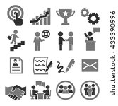 contract icon set | Shutterstock .eps vector #433390996