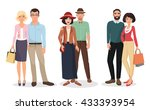 couple of adults people. man... | Shutterstock .eps vector #433393954