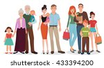 happy family people with baby... | Shutterstock .eps vector #433394200